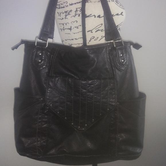 abd5dc1c882 Converse Handbags - Converse faux leather vegan black tote diaper bag